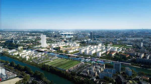 Vue du futur Village olympique ©Paris2024