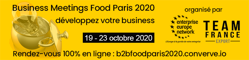Business Meetings Food Paris 2020 on line ! 19-23 oct 2020